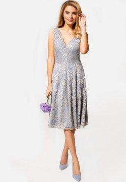 HotSquash - FLORAL  - Cocktailkleid/festliches Kleid - silver
