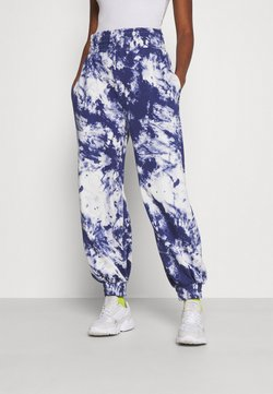 KENDALL + KYLIE - OVERSIZED HIGH RISE - Jogginghose - white/blue