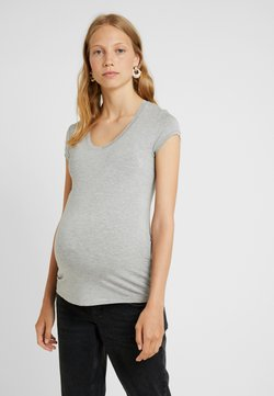 Queen Mum - TEE - T-shirt basic - grey melange