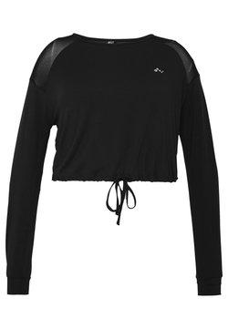 ONLY Play - ONPJAVA CROPPED CURVY - Pitkähihainen paita - black