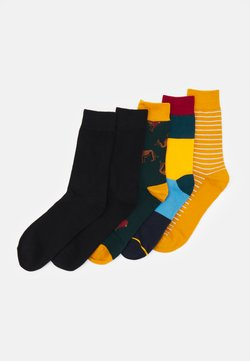 Jack & Jones - JACSTRIP LION SOCK 5 PACK - Calze - chili pepper/golden orange