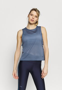 Under Armour - MUSCLE TANK - Funktionsshirt - mineral blue