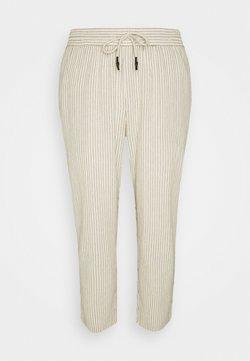 Only & Sons - ONSLINUS LIFE CROP TAP PANT - Pantalon classique - off-white