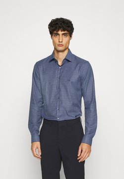 Calvin Klein Tailored - SMALL CHECK EASY CARE SLIM - Businesshemd - blue
