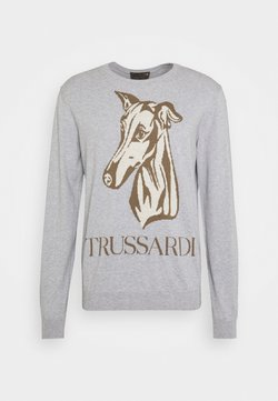 Trussardi - SWEATHER ROUNDNECK PURE COTTON - Trui - melange light grey