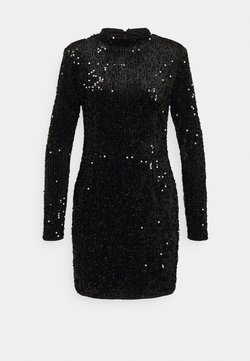 Gina Tricot - INA SEQUINS DRESS - Cocktailkleid/festliches Kleid - black