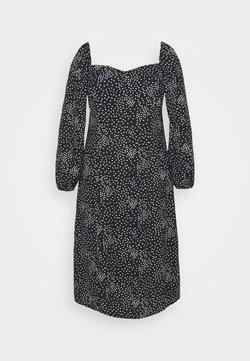 Missguided Plus - MILKMAID DRESS POLKA - Vestito estivo - black
