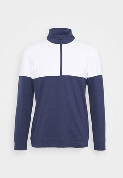 Puma Golf - CLOUDSPUN WARM UP ZIP - Sweater - peacoat/bright white