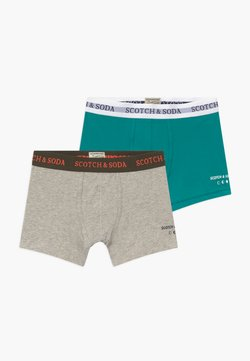 Scotch & Soda - BOXER 2 PACK - Shorty -  grey/aqua