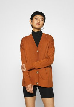 Esprit - BUTTOND CARDI - Strickjacke - rust brown