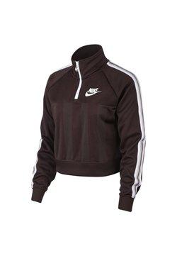 Nike Sportswear - W NSW TOP LS HZ SHDW STRP - Sweatshirt - bordeaux/pink/white