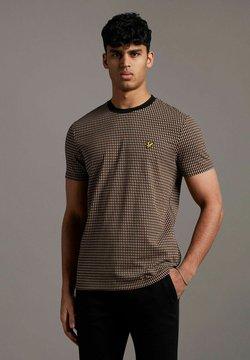 Lyle & Scott - RETRO REPEAT  - T-Shirt print - tawny brown