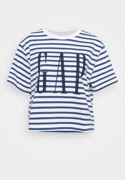 GAP - BOXY TEE - T-Shirt print - navy stripe