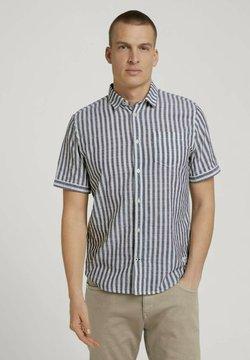TOM TAILOR - Hemd - navy white big stripe