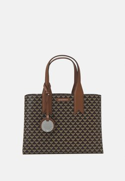 Emporio Armani - FRIDATOTE BAG - Handbag - brown/ecru/tobacco