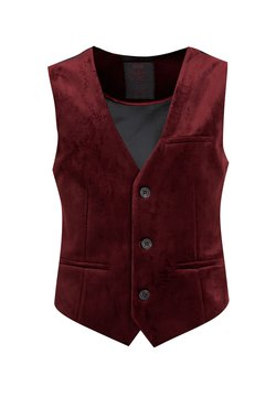 WE Fashion - JONGENS VELVET - Smanicato - burgundy red