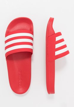 adidas Performance - ADILETTE SHOWER - Badesandaler - scarle/footwear white