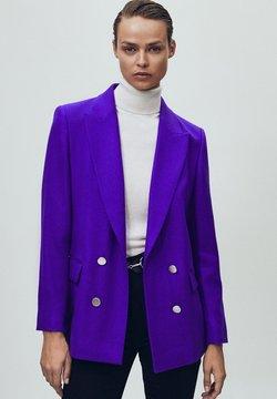 Massimo Dutti - MIT DEKORATIVEN - Żakiet - dark purple