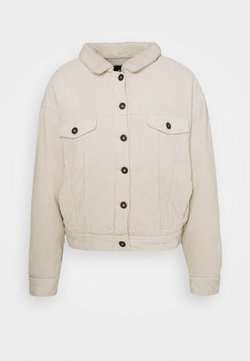 Cotton On - SHEARLING TRUCKER - Overgangsjakker - beige