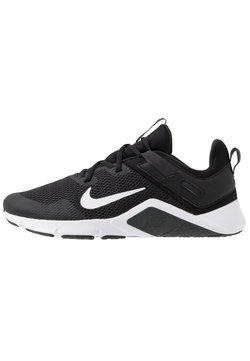 Nike Performance - LEGEND ESSENTIAL - Sports shoes - black/white/dark smoke grey