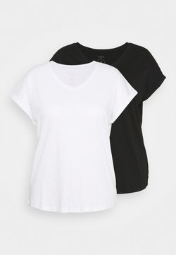 MY TRUE ME TOM TAILOR - 2 PACK - T-Shirt basic - black
