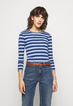 Polo Ralph Lauren - STRIPE LONG SLEEVE - Langarmshirt - chambray blue