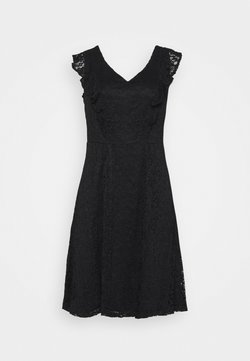Dorothy Perkins Curve - FIT AND FLARE DRESS - Freizeitkleid - black