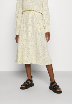 Monki - SIGRID BUTTON SKIRT - A-Linien-Rock - yellow