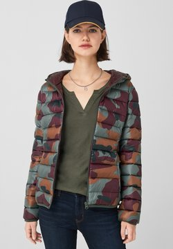 Q/S designed by - MIT ALLOVER-PRINT - Winterjacke - olive