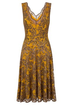HotSquash - FLORAL  - Cocktailkleid/festliches Kleid - mustard brown