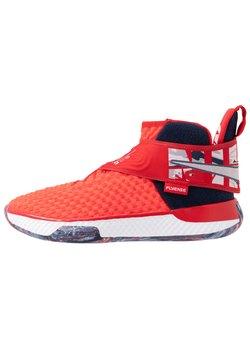 Nike Performance - AIR ZOOM UNVRSE FLYEASE - Indoorskor - university red/white/midnight navy/game royal/platinum tint/light zitron