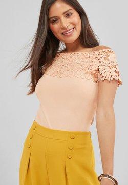 Next - LACE BARDOT - Bluse - beige