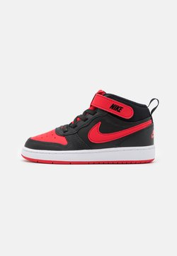 Nike Sportswear - COURT BOROUGH MID UNISEX - Chaussures premiers pas - black/university red/white