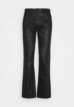 Trussardi - FIVE POCKET COATED - Straight leg jeans - black