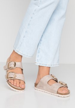 Birkenstock - ARIZONA BIG BUCKLE - Tofflor & inneskor - washed metallic rose gold