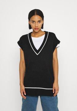 KENDALL + KYLIE - VEST DRESS - Vestido de punto - black
