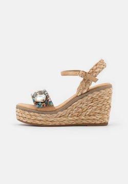 Alma en Pena - Korkeakorkoiset sandaalit - sand