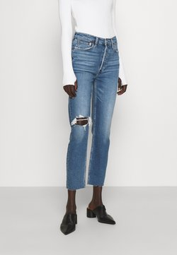 RE/DONE - HIGH RISE ANKLE CROP - Jeans Tapered Fit - vintage indigo