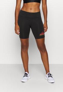Nike Performance - FAST SHORT TRAIL - Collants - black