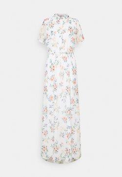 Vero Moda Tall - VMKAY ANKLE SHIRT DRESS - Maxikleid - snow white/flora