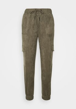 Noisy May - FAUX SUEDE NMMILTA CARGO POCKET PANT - Jogginghose - kalamata