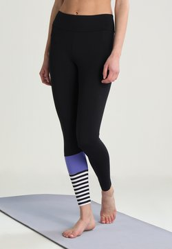Hey Honey - LEGGINGS SURF STYLE - Medias - black/purple
