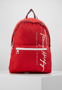 Tommy Hilfiger - SIGNATURE BACKPACK - Reppu - red