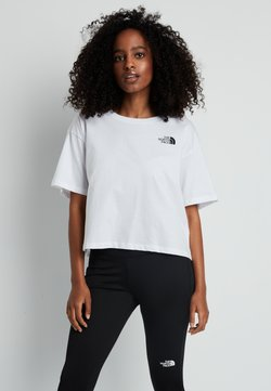 The North Face - CROPPED SIMPLE DOME TEE - T-Shirt basic - white