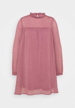 Simply Be - DOBBY SPOT SWING DRESS - Freizeitkleid - dusted rose