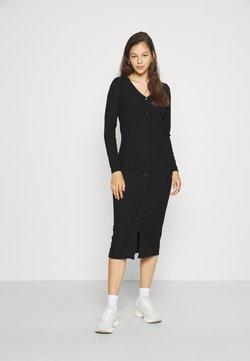 ONLY - ONLNELLA LONG BUTTON DRESS - Maxikleid - black