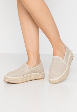 Dorothy Perkins Wide Fit - COMICO SLIP ON - Espadrilles - gold