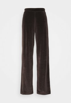 Noisy May Tall - NMABBY LOOSE PANT - Jogginghose - chocolate brown