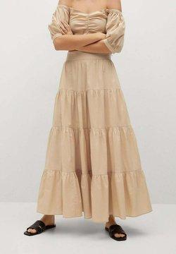Mango - TAFA-L - Maxi skirt - beige