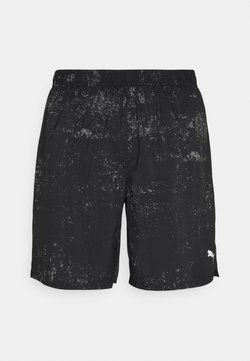 Puma - RUN GRAPHIC  - Pantalón corto de deporte - black